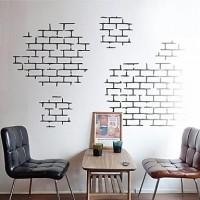 Modern Brick Texture Wall Decal, Wallpaper